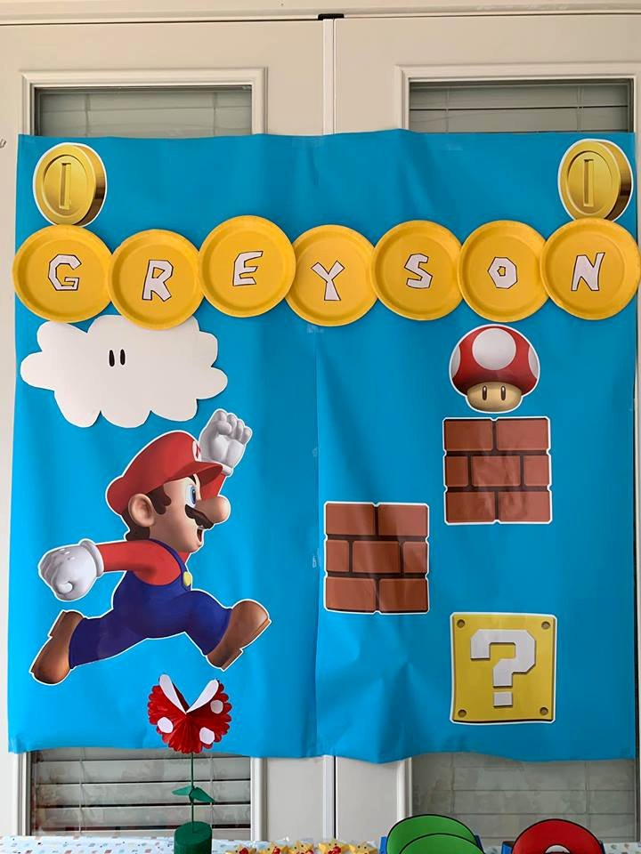 Super Mario Birthday Decoration Ideas Best Of Greyson S Super Mario theme 5th Birthday Party Diary Of A