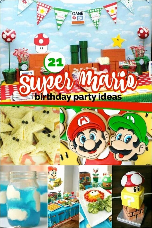 Super Mario Birthday Decoration Ideas Elegant 21 Super Mario Brothers Party Ideas and Supplies