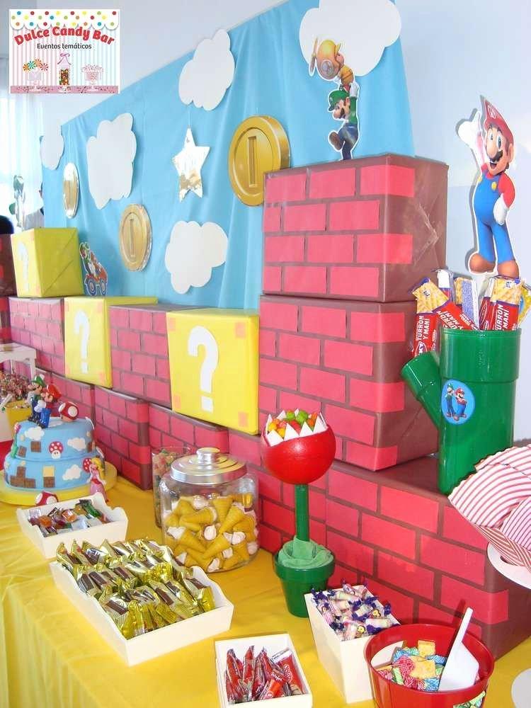 Super Mario Birthday Decoration Ideas Luxury Super Mario Bros Birthday Party Ideas