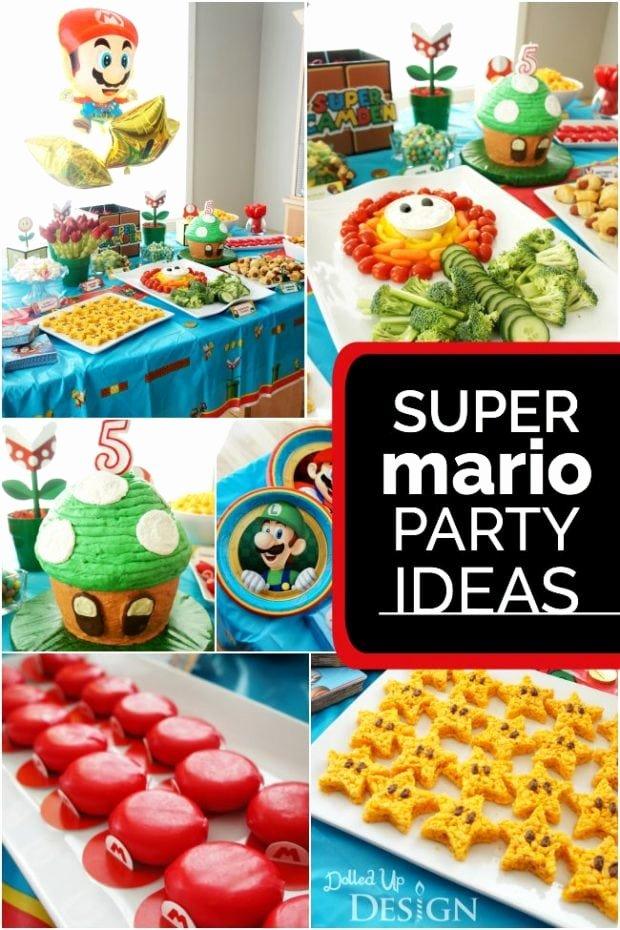 Super Mario Birthday Decoration Ideas New Game A Boy S Super Mario Party Spaceships and Laser Beams