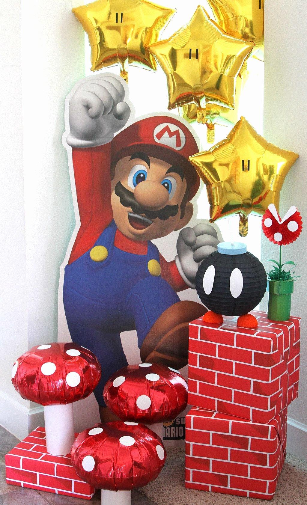 Super Mario Birthday Decoration Ideas New Super Mario Party Ideas