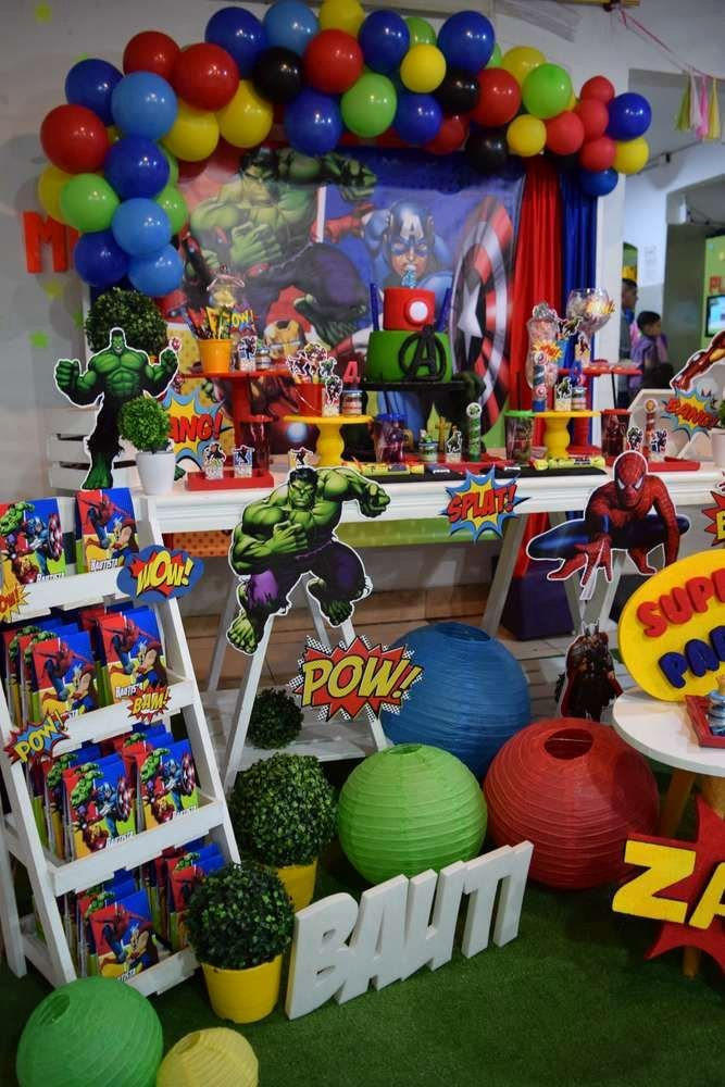 Superhero Birthday Decoration Ideas Awesome Avengers Birthday Party Ideas 2 Of 10