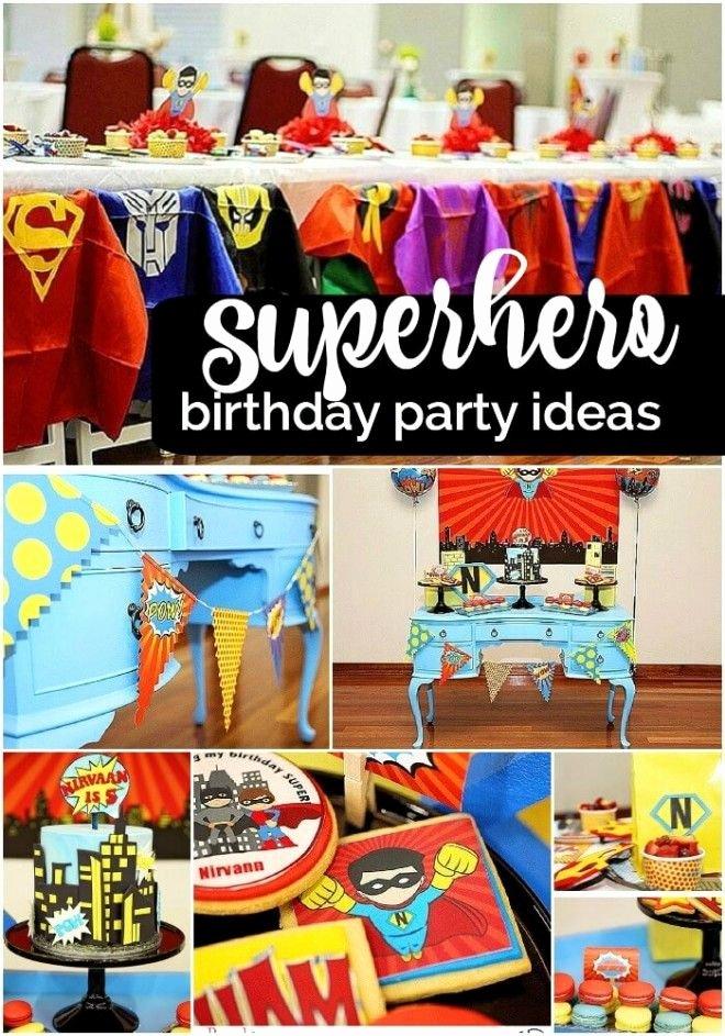 Superhero Birthday Decoration Ideas Beautiful Boys Superhero Birthday Party Ideas 1