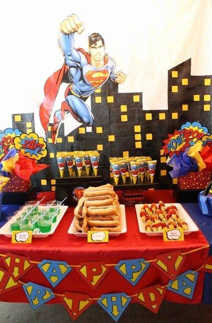 Superhero Birthday Decoration Ideas Beautiful Superhero Birthday Party Ideas 26 Of 53