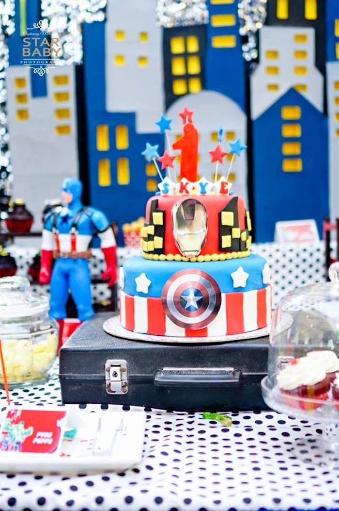 Superhero Birthday Decoration Ideas Luxury Kara S Party Ideas Avengers Superhero Birthday Party