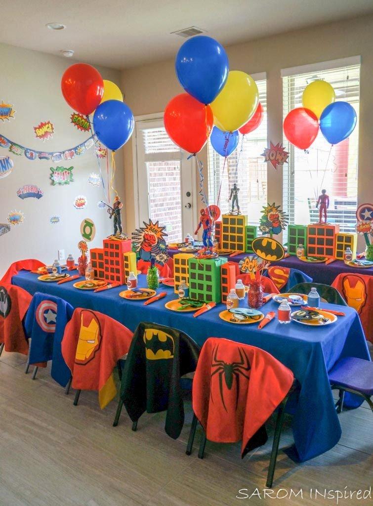 Superhero Birthday Decoration Ideas Luxury Superhero themed Birthday Party Favor Ideas Superhero