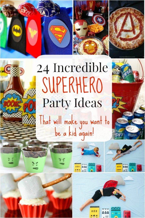 Superhero Birthday Decoration Ideas New 24 Superhero Party Ideas that Will Make You Wish You Were A Kid