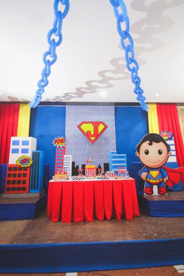 Superman Birthday Decoration Ideas Beautiful Joaquim S Baby Superman themed Party – 1st Birthday