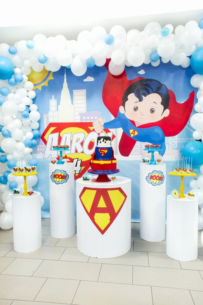 Superman Birthday Decoration Ideas Beautiful Kara S Party Ideas Superman Birthday Party