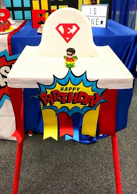 Superman Birthday Decoration Ideas Elegant Superhero First Birthday Party Ideas