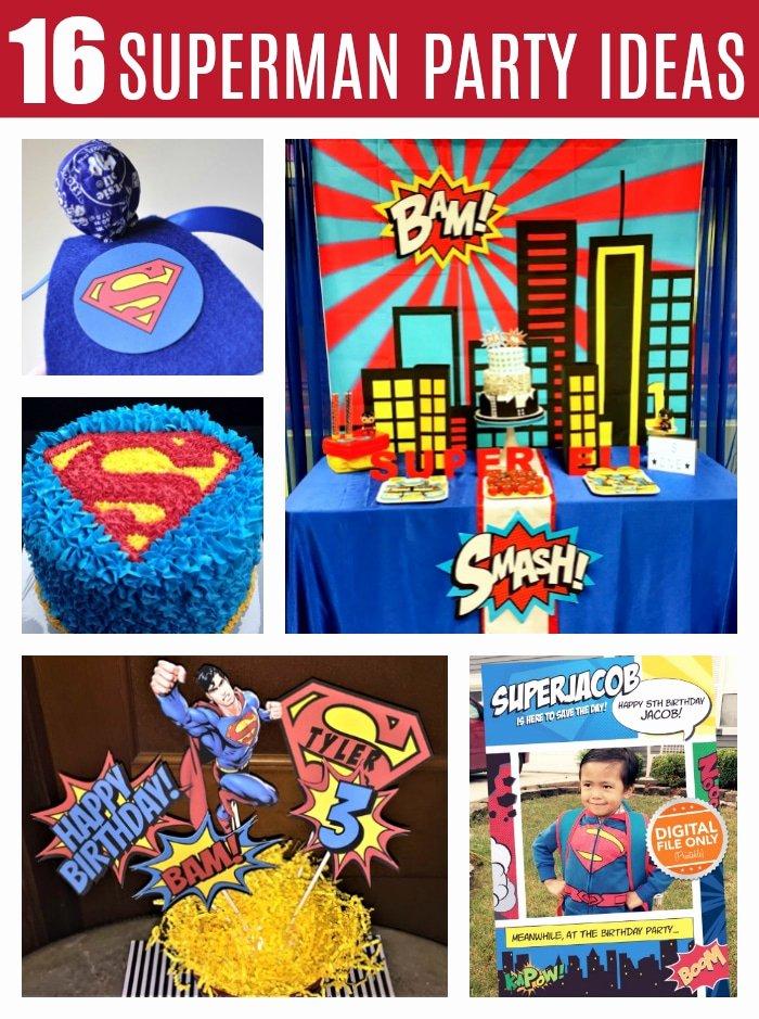 Superman Birthday Decoration Ideas Luxury 16 Cool Superman Party Ideas Pretty My Party Party Ideas