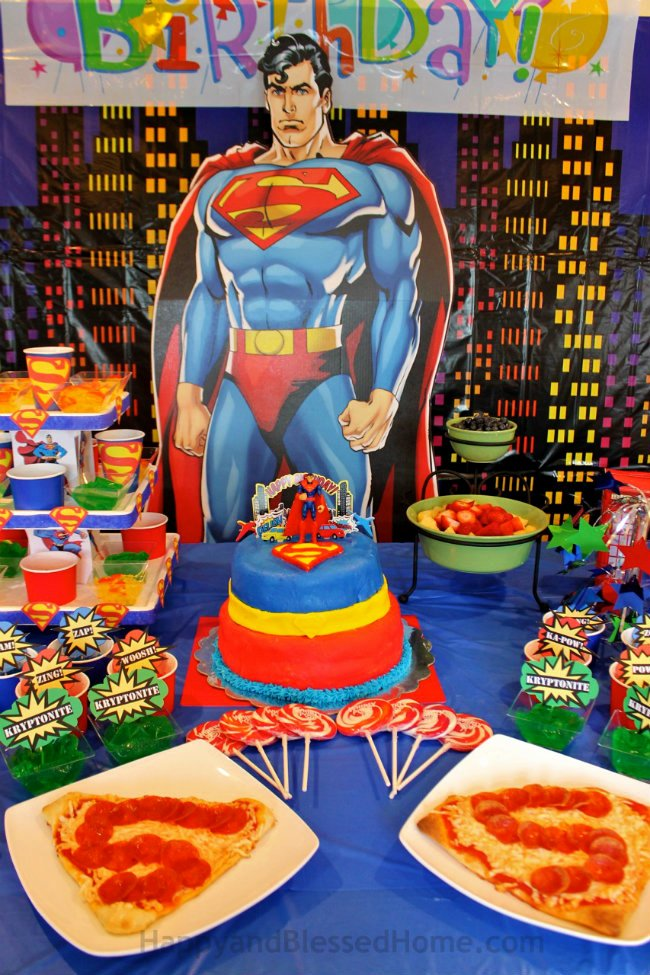 Superman Birthday Decoration Ideas Luxury Superman Birthday Party Happy and Blessed Home