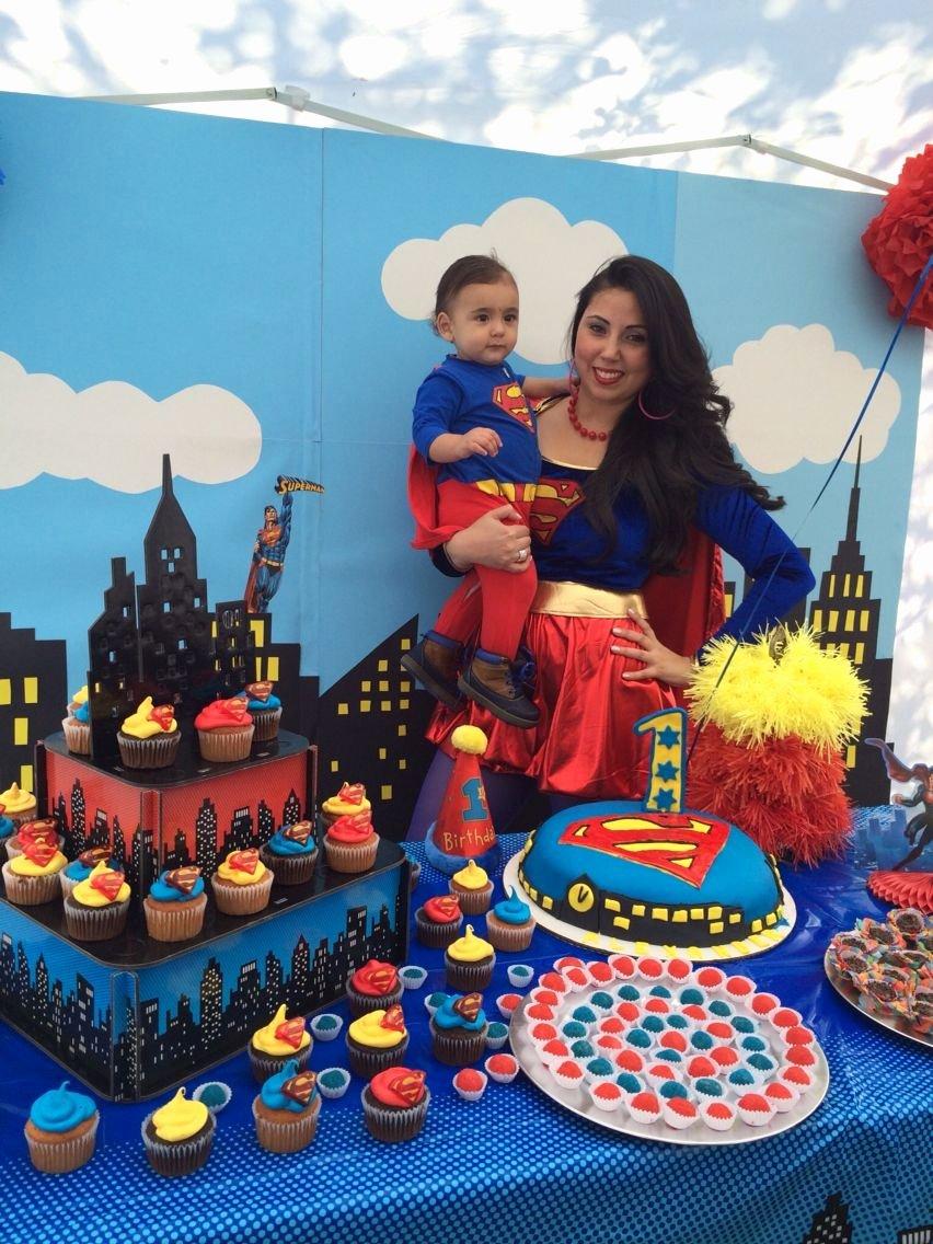 Superman Birthday Decoration Ideas Luxury Superman theme First Birthday Party
