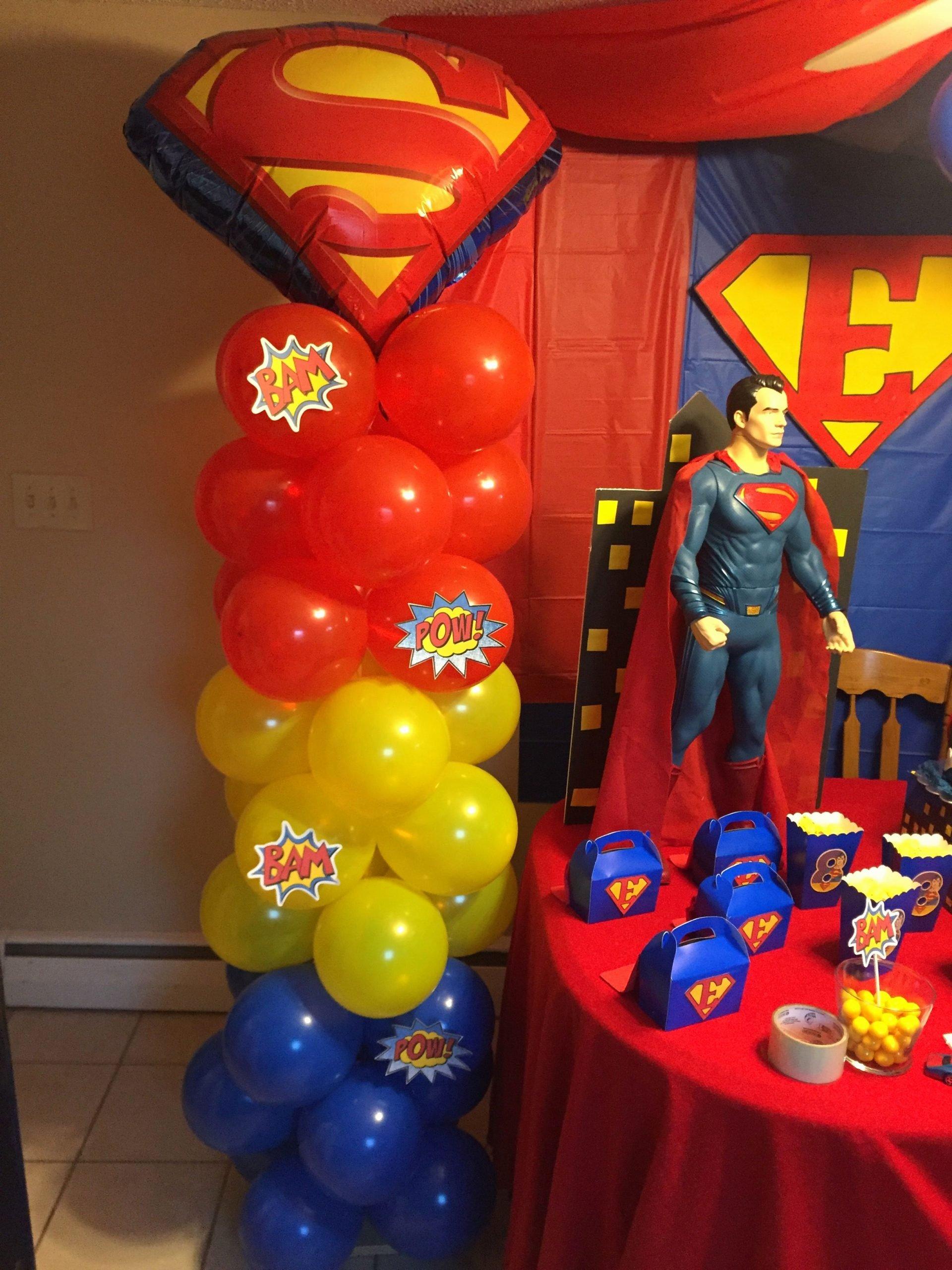Superman Birthday Decoration Ideas Unique Superman Balloon Decor