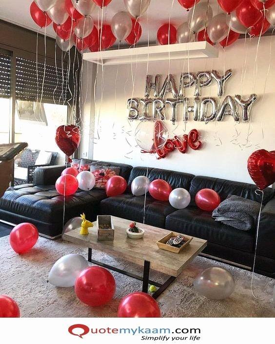 Surprise Birthday Decoration Ideas for Husband Elegant Romance 25th Birthday Decoration Ideas for Him In 2020