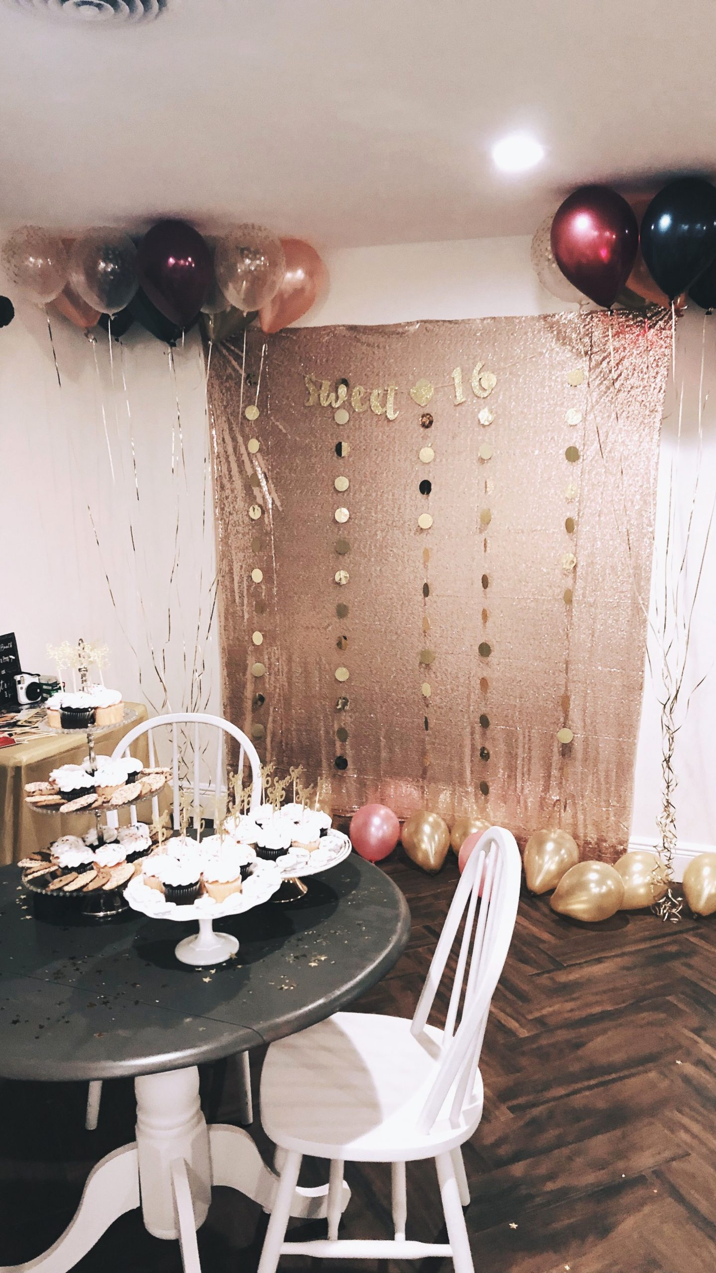 Sweet Sixteen Birthday Decoration Ideas Lovely Booth Party Decor Gold and Pink Sweet 16
