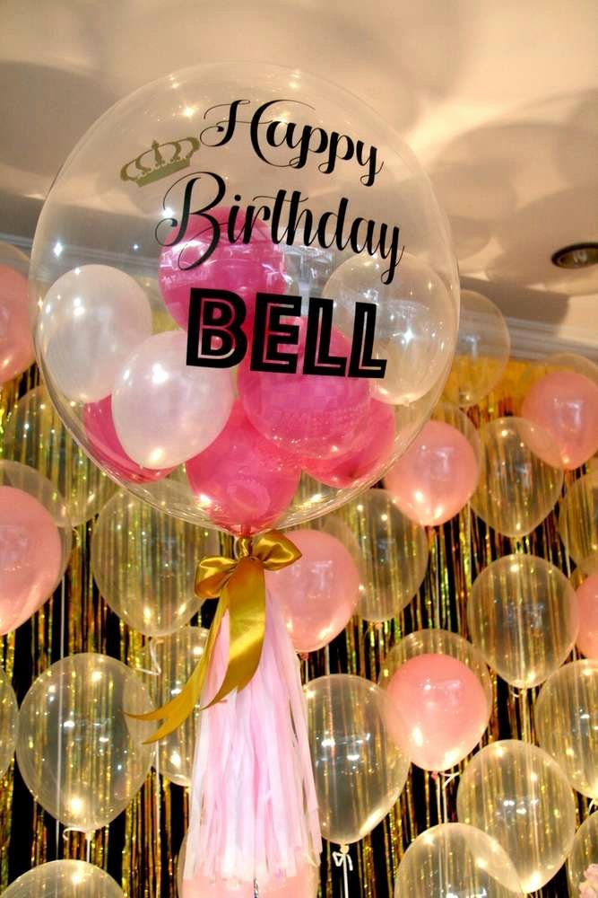 Sweet Sixteen Birthday Decoration Ideas Luxury Pink & Gold themed Birthday Party Ideas