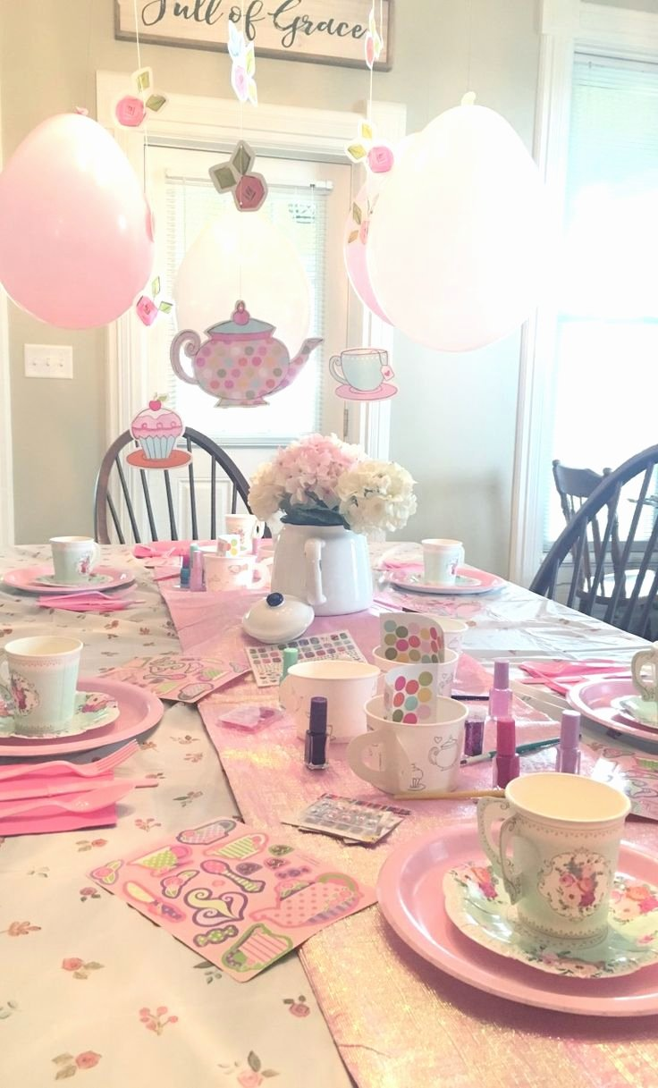 Tea Party Birthday Decoration Ideas Lovely Little Girls Tea Party Birthday theme A Bud