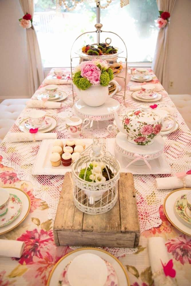 Tea Party Birthday Decoration Ideas Lovely Tea Party Tea Party Party Ideas