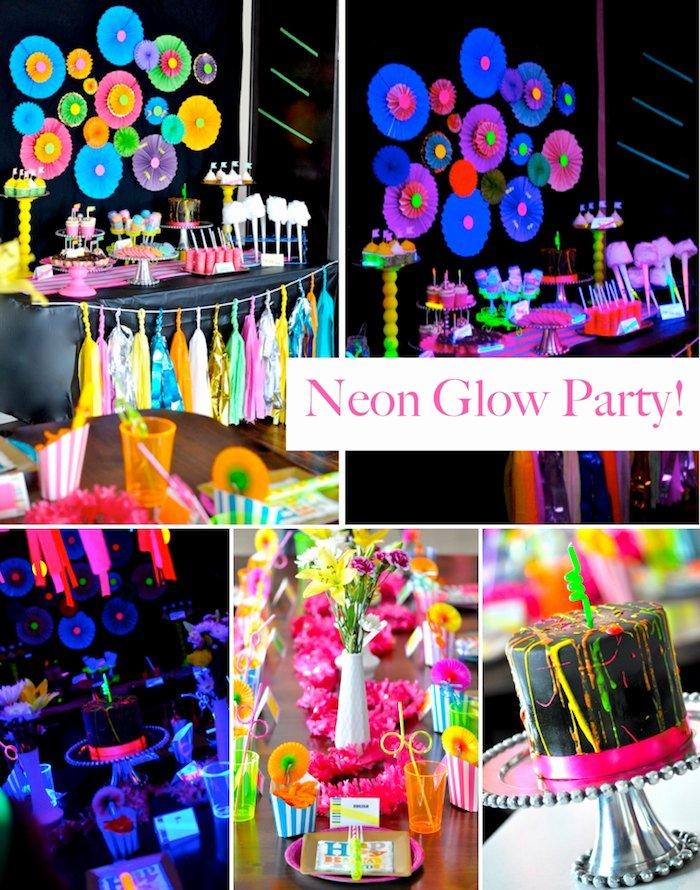 Teenage Birthday Decoration Ideas Best Of Kara S Party Ideas Neon Glow In the Dark Teen Birthday Party