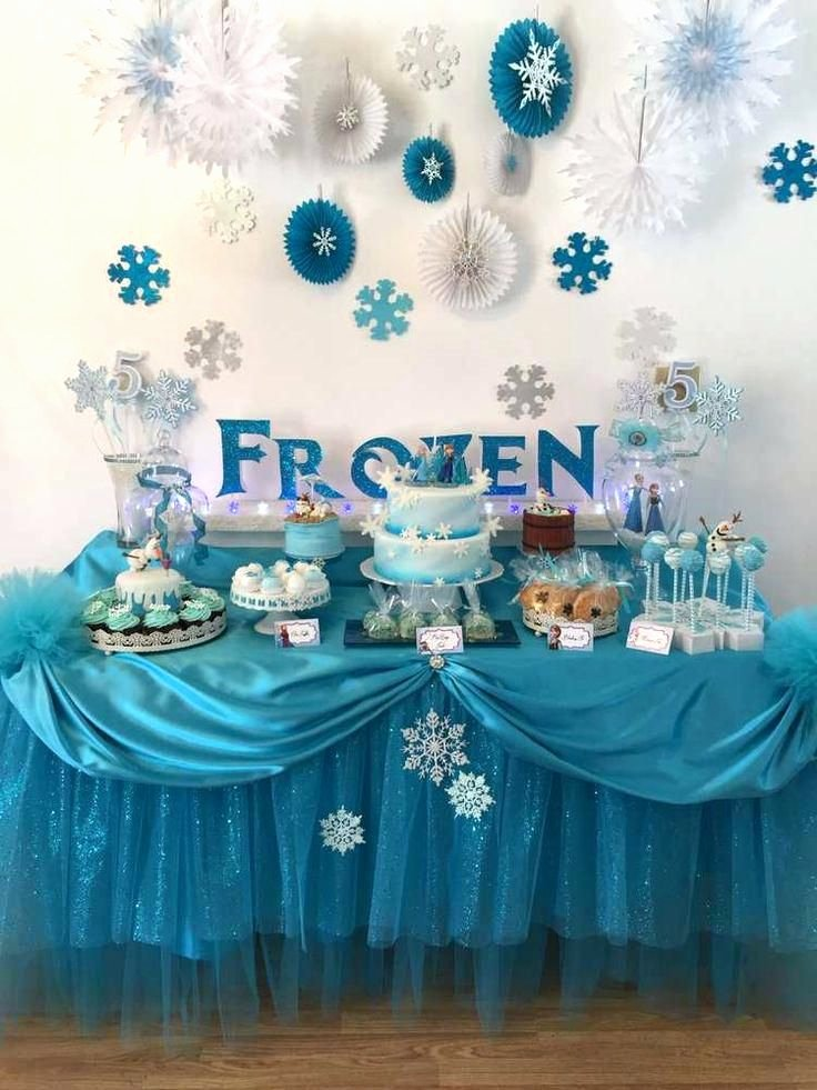 Theme Birthday Decoration Ideas Lovely Fancy Frozen Party Decoration Ideas Frozen Birthday Party