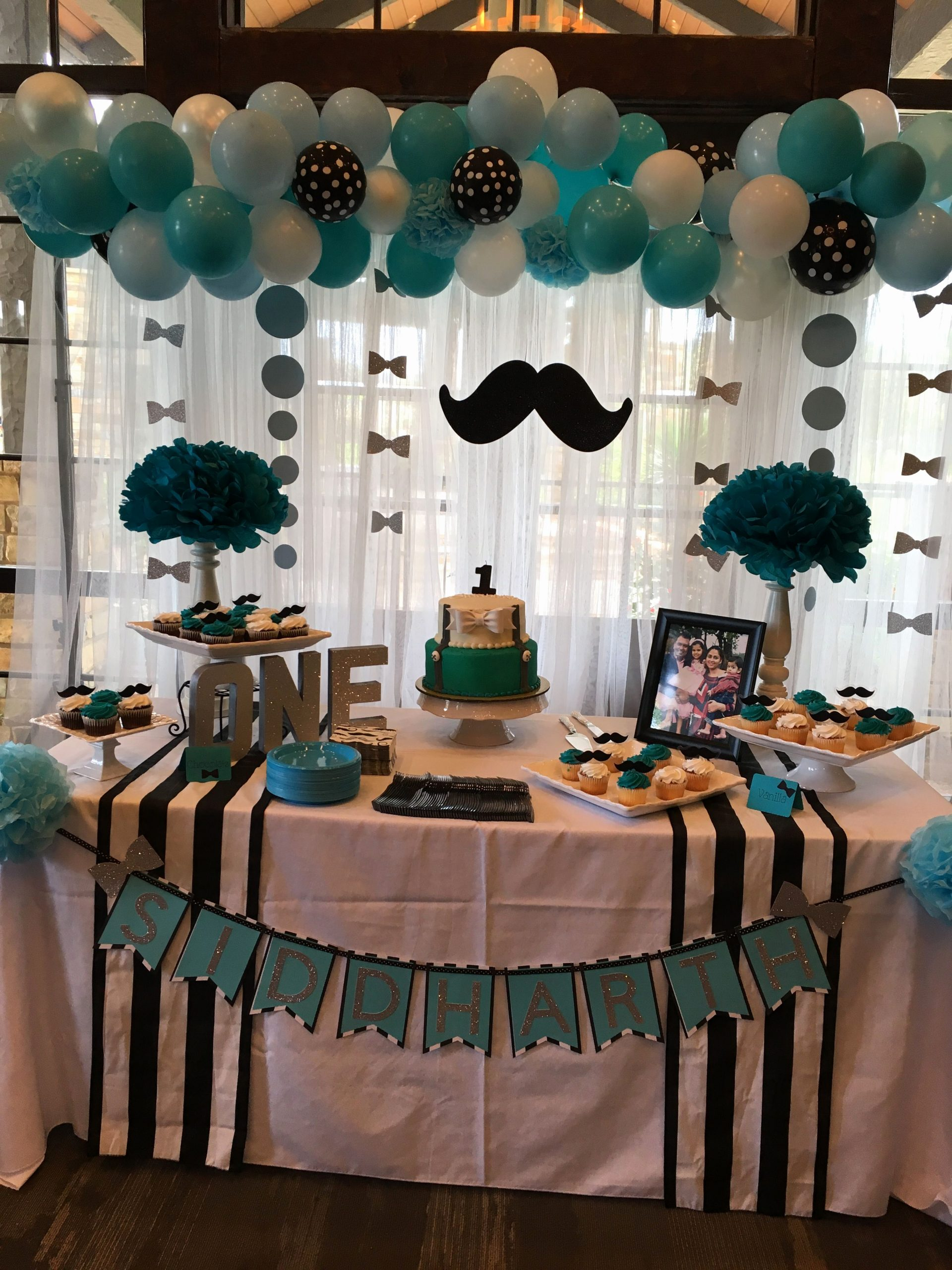 Theme Birthday Decoration Ideas Lovely Little Man First Birthday Cake Table
