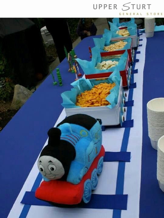 Thomas Train Birthday Decoration Ideas Unique Pin by Birthday In A Box On Party Ideas
