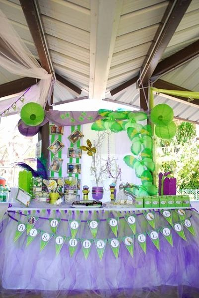 Tinkerbell Birthday Decoration Ideas Beautiful Tinkerbell Fairy Birthday Party theme Ideas