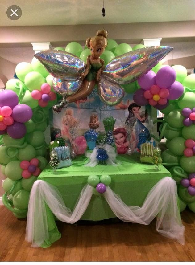 Tinkerbell Birthday Decoration Ideas Unique Tinker Bell Balloon Arch