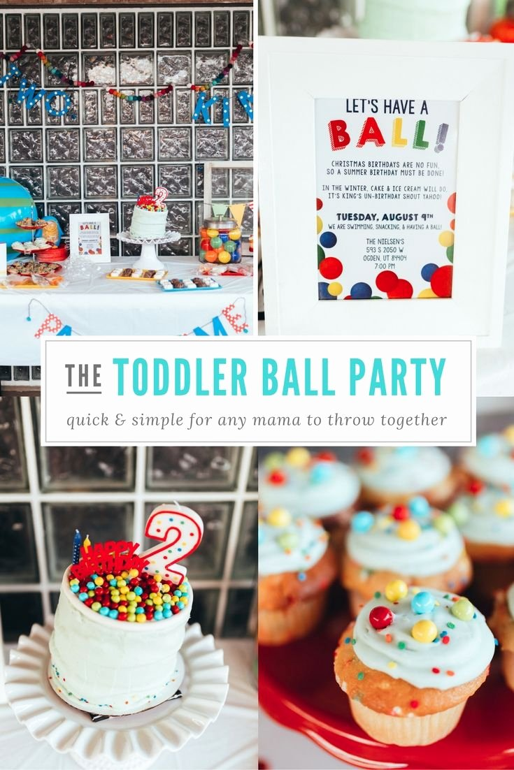Toddler Birthday Decoration Ideas Unique Kids Ball Party toddler Birthday Party