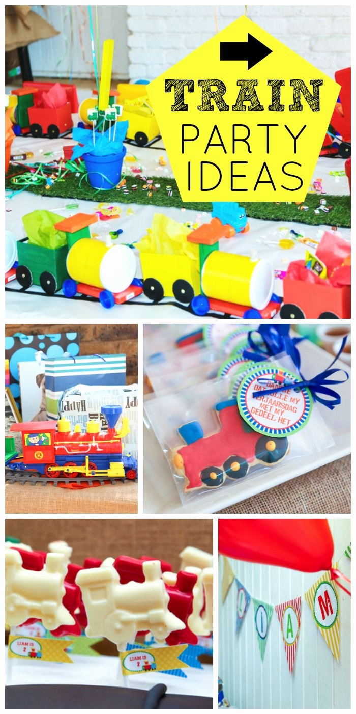 "Train Birthday Decoration Ideas Best Of Trains Birthday ""liam S 2nd Train Birthday Party"""