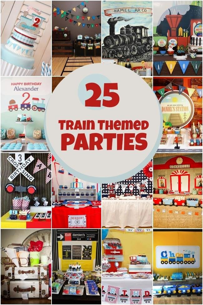 Train Birthday Decoration Ideas Luxury 25 Train themed Birthday Parties Spaceships and Laser Beams