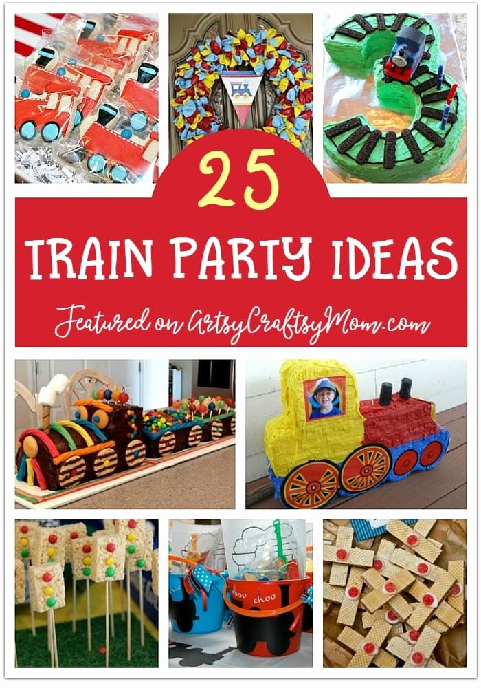 Train Birthday Decoration Ideas New 25 Awesome Train Birthday Party Ideas for Kids Artsycraftsymom