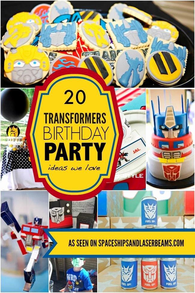 Transformers Birthday Decoration Ideas Awesome 20 Transformers Birthday Party Ideas We Love