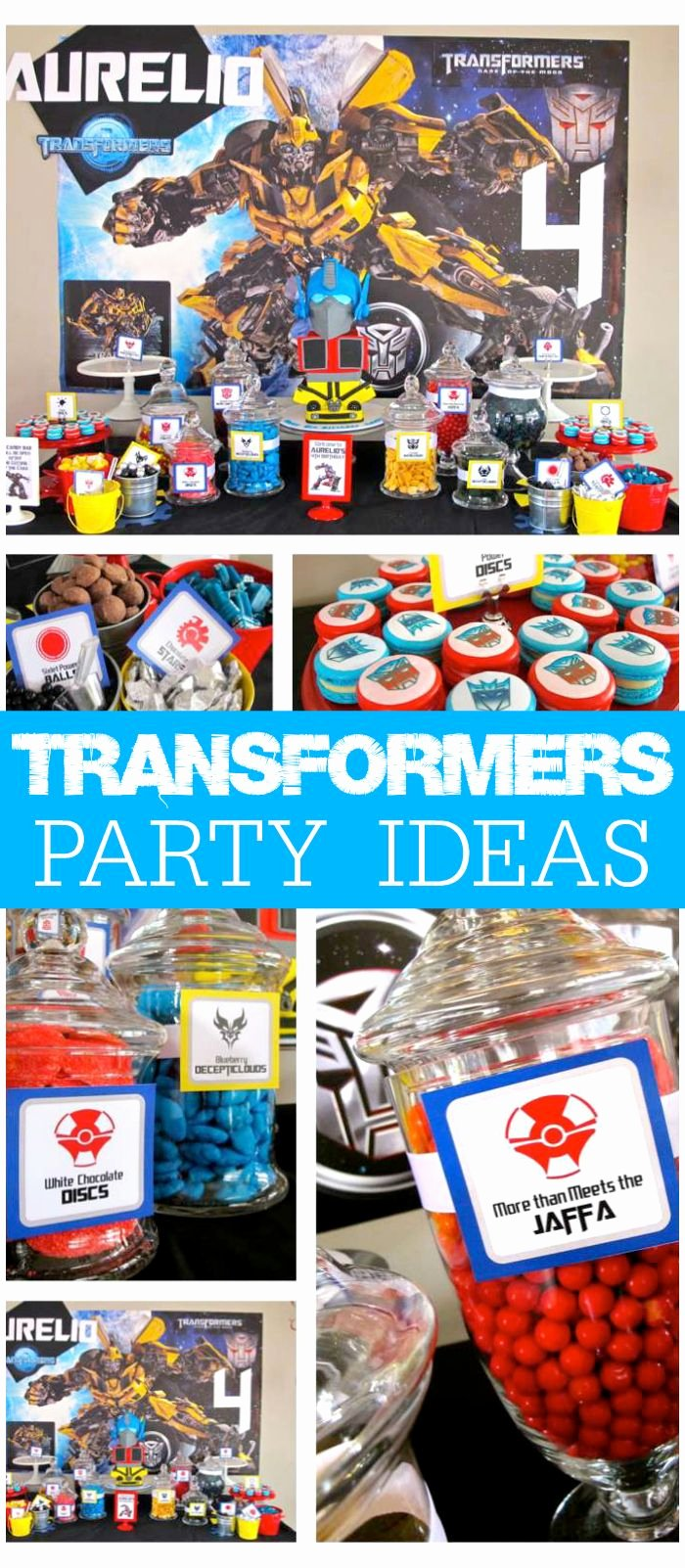 "Transformers Birthday Decoration Ideas Best Of Transformers Birthday ""transformers 4th Birthday Party"