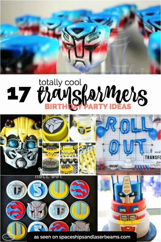 Transformers Birthday Decoration Ideas Lovely 17 totally Cool Transformers Party Ideas Spaceships and