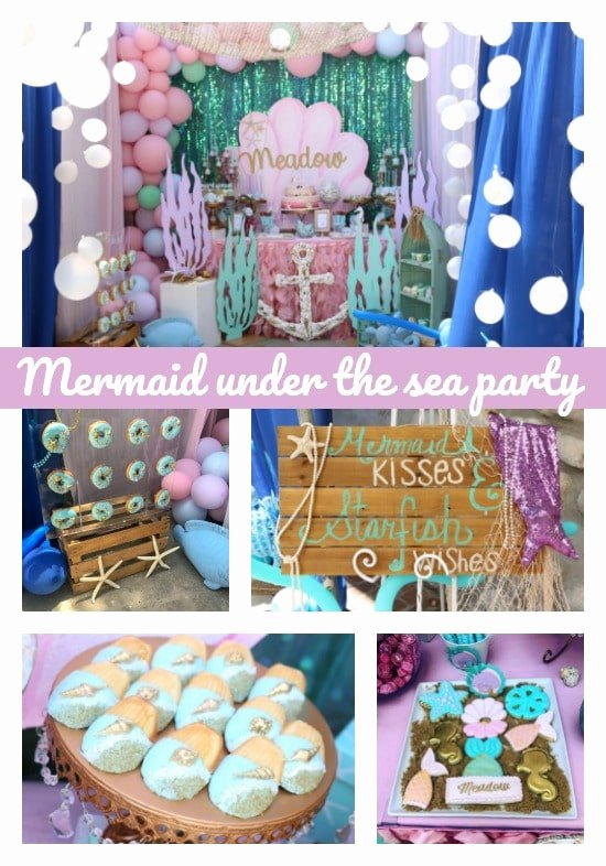 Under the Sea Birthday Decoration Ideas Awesome Mermaid Under the Sea 1st Birthday Party Pretty My Party