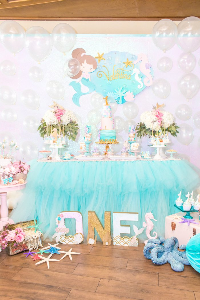 Under the Sea Birthday Decoration Ideas Elegant Kara S Party Ideas Mermaid Under the Sea Birthday Party