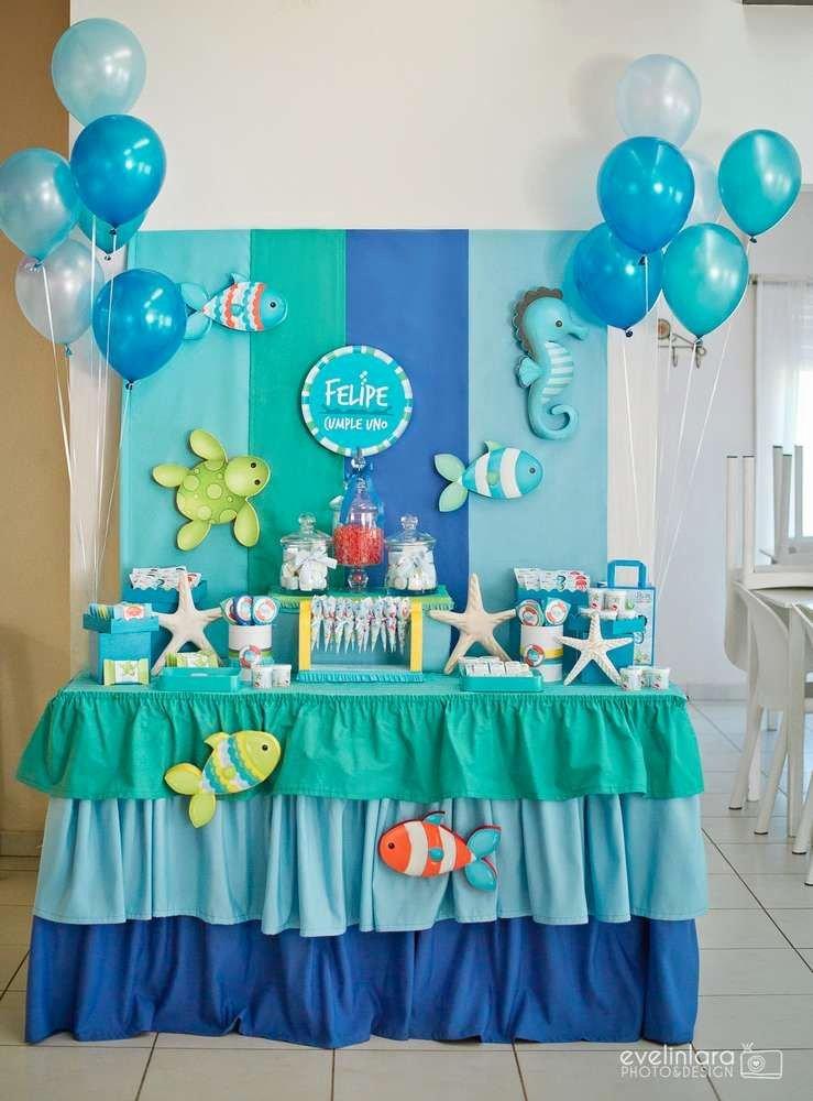 Under the Sea Birthday Decoration Ideas Inspirational Under the Sea Birthday Party See More Party Planning Ideas