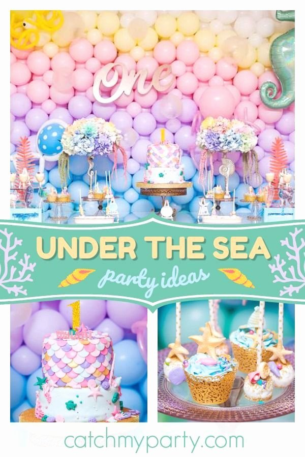 "Under the Sea Birthday Decoration Ideas Inspirational Under the Sea Birthday ""mylani S Under the Sea First"