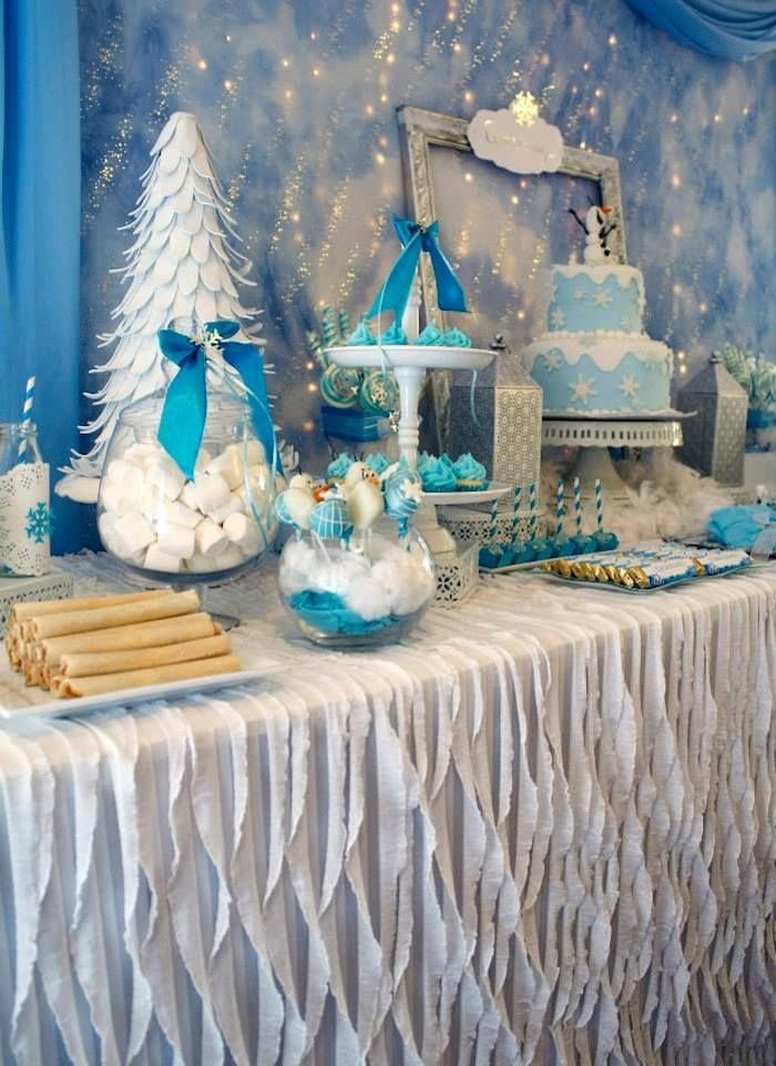 Winter Wonderland Birthday Decoration Ideas Awesome Frozen Winter Wonderland themed Birthday Party