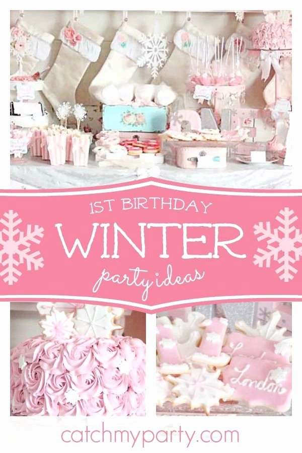Winter Wonderland Birthday Decoration Ideas Beautiful 1st Birthday Winter Wonderland Winter Ederland Winter