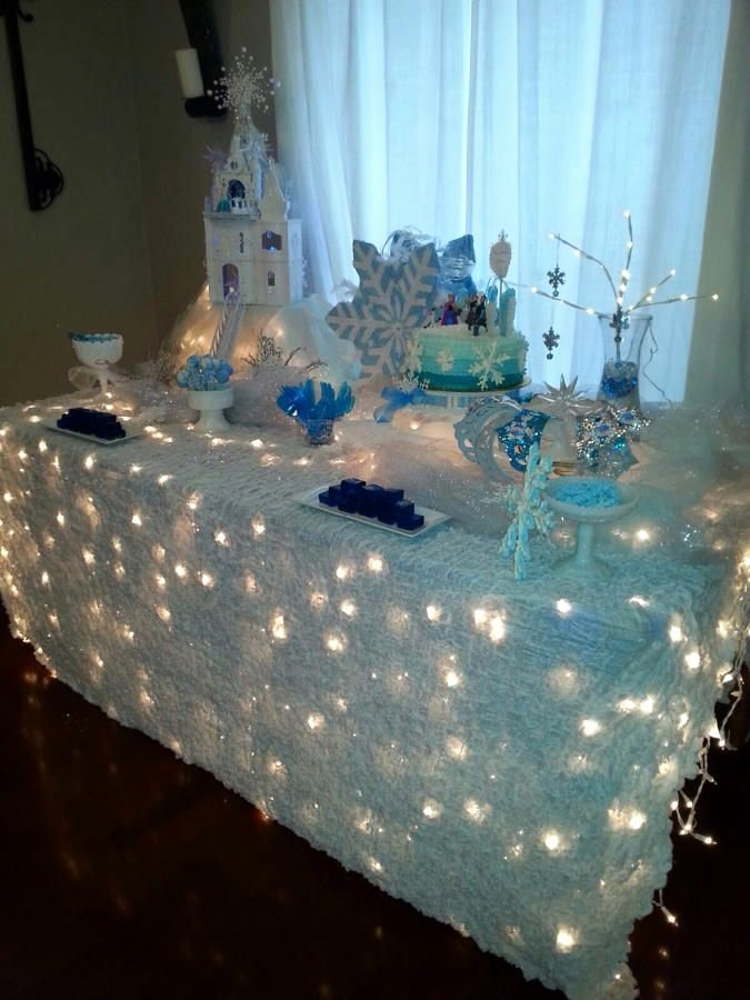 Winter Wonderland Birthday Decoration Ideas Beautiful Winter Party Tablecloth Ideas the Bright Ideas Blog
