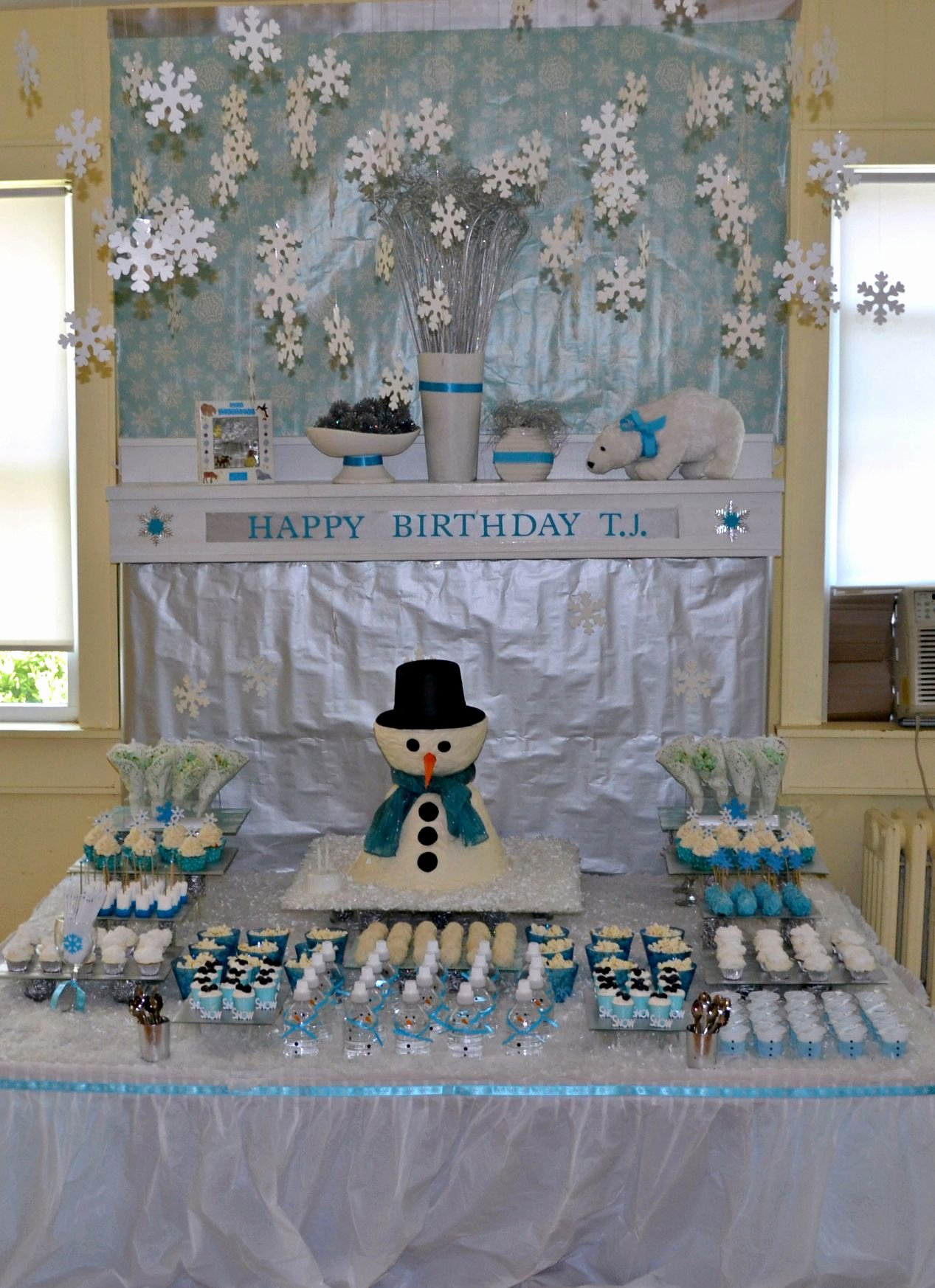 Winter Wonderland Birthday Decoration Ideas Elegant Love This