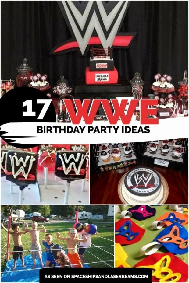 Wwe Birthday Decoration Ideas Awesome 17 Wild Wwe Birthday Party Ideas Spaceships and Laser Beams