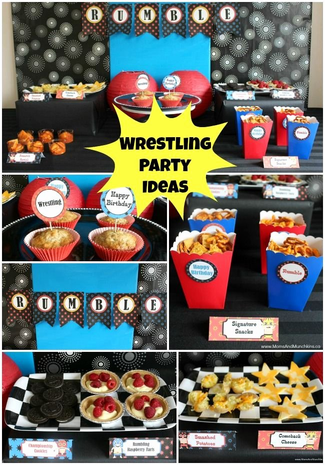 Wwe Birthday Decoration Ideas Beautiful Wrestling Party Ideas & Printables Moms & Munchkins