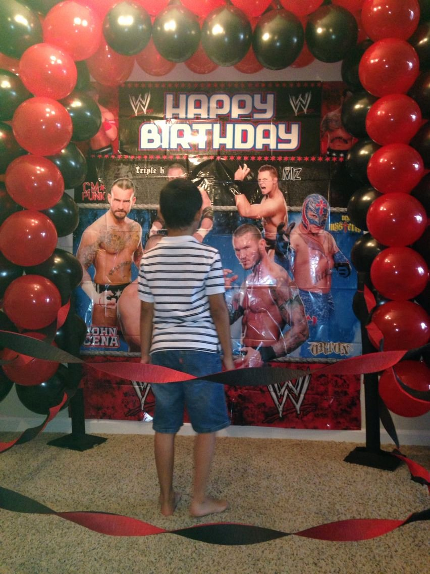 Wwe Birthday Decoration Ideas Best Of Wwe Party