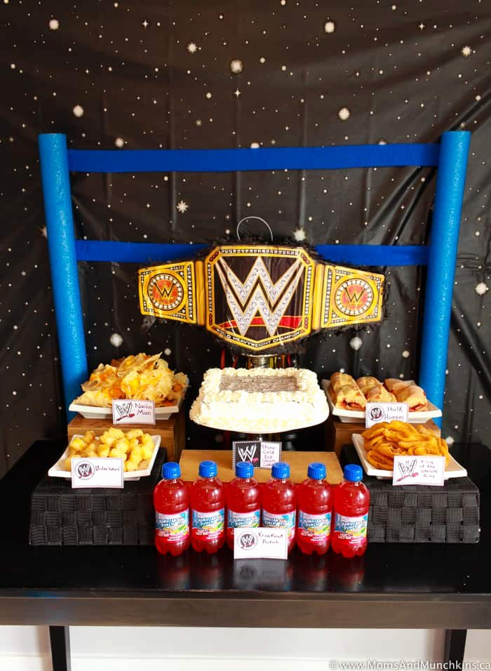 Wwe Birthday Decoration Ideas Inspirational Wwe Birthday Party Ideas for Kids Moms & Munchkins