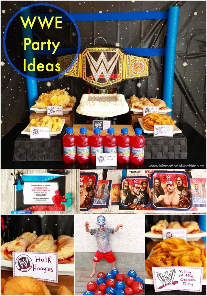 Wwe Birthday Decoration Ideas Lovely Wwe Birthday Party Ideas for Kids