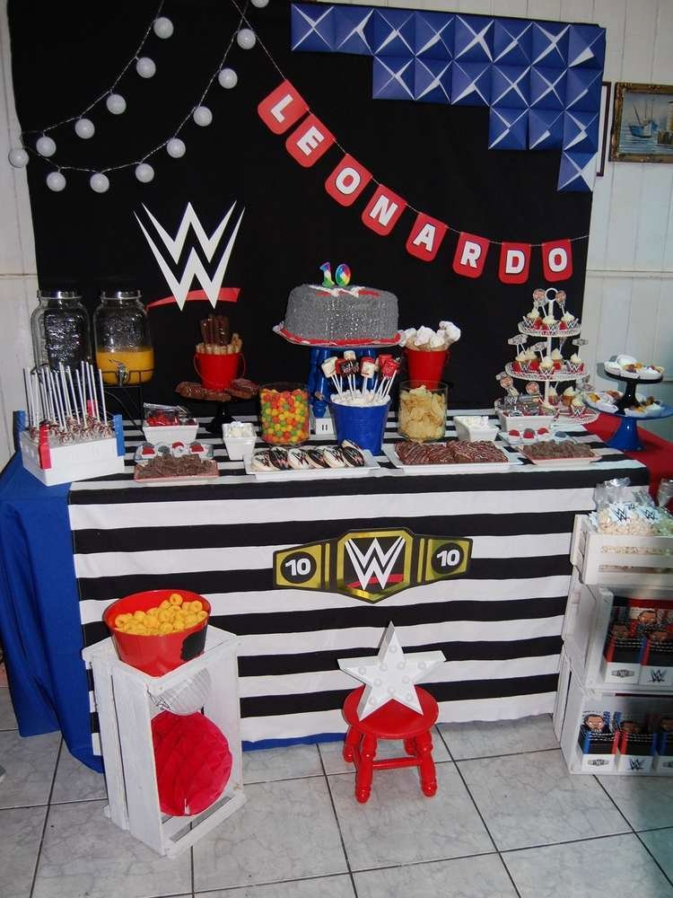 Wwe Birthday Decoration Ideas New Wwe theme Birthday Party